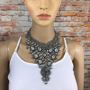 Jewelry - Statement Bib Bohemian Studded Necklace